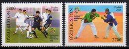 UZBEKISTAN, 2018, MNH, 18th ASIAN GAMES, FOOTBALL, SOCCER, WRESTLING, 2v - Soccer