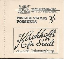 SOUTH AFRICA, 1948, Booklet 18,  3/-, Springbok, Van Riebeeck's Ship, Gold Mine - Libretti