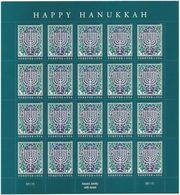 """USA 2018 - Joint Issue With ISRAEL - The Hanukkah Eight-Candles Candelabra - Sheet Of 20 S/adh. """"Forever"""" Stamps - MNH - Jewish"""