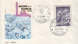 Italy Stamp On FDC - Sculpture
