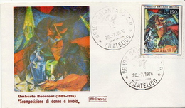 Italy Stamp On FDC - Art