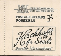SOUTH AFRICA, 1948, Booklet 18*,  3/-, Springbok, Van Riebeeck's Ship, Gold Mine - Libretti