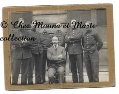 BORDEAUX 1914 WWI - MINISTERE DE LA GUERRE SERVICE INTERIEUR VERIFICATEURS ARCHIVES GIRONDE - CDV PHOTO 12 X 9 CM - Guerre, Militaire
