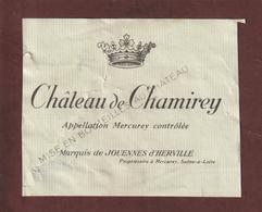 Étiquette De Vin - MERCUREY - Marquis De Jouennes D'Herville Château DE CHAMIREY à MERCUREY. 71 - Bourgogne