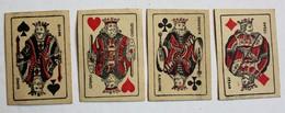 4 Petites Cartes à Jouer Miniatures Publicitaires Le Vernicire Pour Meubles Et Parquet - Cartes à Jouer