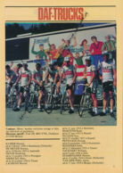 CYCLISME : PHOTO, TOUR DE FRANCE 1981, L'EQUIPE DAF-TRUCKS, KUIPER, DE MEYER, NULENS, PEVENAGE, DIERICKK, SCHEPERS... - Cycling