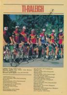 CYCLISME : PHOTO, TOUR DE FRANCE 1981, L'EQUIPE TI-RALEIGH, ZOETELMELK, RAAS, KNETEMANN, LUBBERDING, OOSTERBOSCH... - Cycling