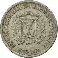 Monnaie, Dominican Republic, 25 Centavos, 1976, TTB, Copper-nickel, KM:43 - Dominicaine