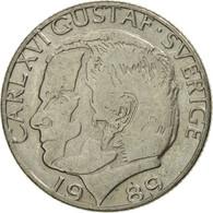 Monnaie, Suède, Carl XVI Gustaf, Krona, 1989, TTB, Copper-nickel, KM:852a - Suède
