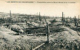 51 - Monts De Champagne :  Tranchées Entre Le Mont Blond Et Le Cornillet - Francia