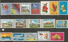 Iles SAMOA. Anniversaire De L'Independance , 4 Séries, 17 Timbres Neufs **  Côte 18,00 Euro - Samoa