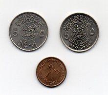 Arabia Saudita - Lotto 3 Monete - Vedi Foto - (MW1583) - Arabia Saudita