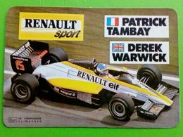 Calendrier De Poche. Renault Sport,Patrick Tambay,Derek Warwick - Petit Format : 1991-00