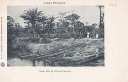 CONGO FRANCAIS  Poste à Bois Du Village De KOUNDA  ( Plan Animé ) - Congo Français - Autres