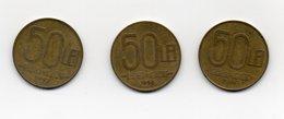 ROMANIA - 3 Monete Da 50 Lei - 1992 -1993 E 1994 - Vedi Foto - (MW1584) - Romania