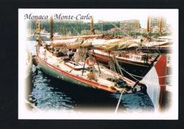MONACO-MONTE-CARLO  Le Port - Yachts- Voyagée 1998 Avec Beau Timbre Recto Verso-Paypal Sans Frais - Harbor