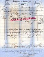 69- LYON BROTTEAUX- FACTURE F. LACROIX- 1878- ENTREPOT FROMAGES 6 RUE MONSIEUR- GRUYERE GEX-SALAISONS- - France