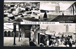 Souvenir De KAIROUAN- Tunisie- Multivues     - CPSM  - Edit CAP- Recto Verso-Paypal Sans Frais - Tunisie