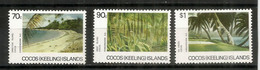 Paysage Et Plages Des Iles COCOS. Yv.# 160/62. 3 T-p Neufs **.  Cote 10.00 € - Cocos (Keeling) Islands