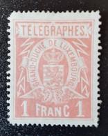 Luxembourg Télégraphe 1883. Neuf Avec Charnière . 1F - Telegrafen