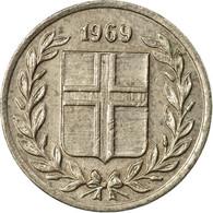Monnaie, Iceland, 10 Aurar, 1969, TTB, Copper-nickel, KM:10 - Islandia