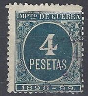 España Impuesto De Guerra U 39 (o) Cifra. 1898 - Impuestos De Guerra