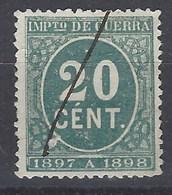 España Impuesto De Guerra U 51 (o) Cifra. 1897 - Impuestos De Guerra