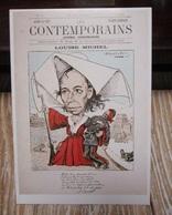 Carte Des Années 80 -  LES CONTEMPORAINS Caricature De Louise MICHEL 1880 - Pubblicitari