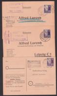 Bücherzettel Drucksache 3 Belege Frankiert Mit 6 Pf. Gerhart Hauptmann Universitätsbuchhandlung Leipzig, - DDR