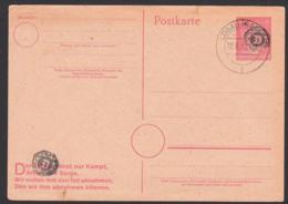 Löbau Sachsen GA-Karte Als Sächsische Schwärzung, OSt. 10.6.46, Propagandatext überdruckt, Unbeschrieben, Oben Kl. Riss - Sovjetzone