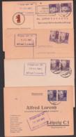Bücherzettel Fernkarte 4 Belege Frankiert Mit 6 Pf. G. Hauptmann SBZ, Universitätsbuchhandlung Leipzig, Aus 1948 - 1950 - [6] Repubblica Democratica
