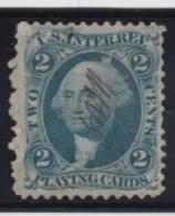Sc#R11c, 2c Playing Card Revenue Issue Of 1862-71 Stamp - Steuermarken