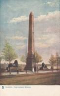London UK, Cleopatra's Needle Obelisk Monument, Tucks Oilette 'London' Series #7422 C1900s Vintage Postcard - Other
