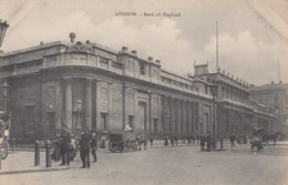 London UK, Bank Of England, Street Scene, Police, Wagons C1900s Vintage Postcard - London