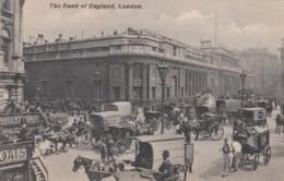 London UK, Bank Of England, Animated Street Scene, Wagons C1900s Vintage Postcard - London