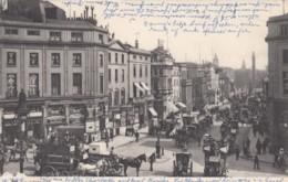 London UK, Regent Street, Street Scene, Horse-drawn Wagons, Many Signs Advertisements C1900s Vintage Postcard - Other