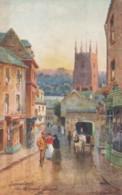 Tavistock West Devon UK, Parish Church, Street Scene, Artist Image Tucks #7077 C1900s/10s Vintage Postcard - England