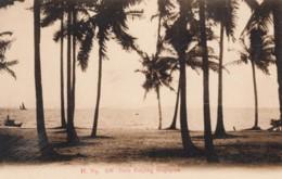 Singapore, Pasir Panjang Beach Scene, C1910s/20s Vintage Postcard - Singapore