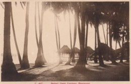 Singapore, Pasir Panjang Sunset Beach Scene With Buildings, C1910s/20s Vintage Postcard - Singapore
