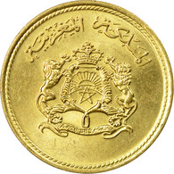 Monnaie, Maroc, Al-Hassan II, 5 Santimat, 1974, Paris, TTB+, Aluminum-Bronze - Maroc