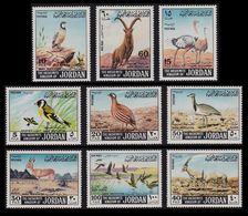 JORDAN 1968 GAME PROTECTION BIRDS GOLDFINCH PARTRIDGE MALLARD WILDLIFE SET MNH - Jordan