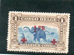 CONGO BELGE 1918 * - Belgian Congo