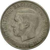 Monnaie, Grèce, Constantine II, 2 Drachmai, 1966, TB+, Copper-nickel, KM:90 - Luxembourg
