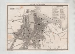 France Pittoresque 1835 Marseille Plan - Vieux Papiers