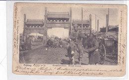 CARD CINA PEKING SCENE DI STRADA CAROVANIERI  MENDICANTE ASINELLO PIEGHE COME DA SCANNER -2 SCANNER-FP-V.2-0882-28416-17 - Chine