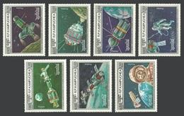 KAMPUCHEA 1986 SPACE FIRST MAN IN SPACE YURI GAGARIN SOYUZ APOLLO LUNA SET MNH - Kampuchea