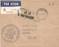 Burundi 1965 Usumbura Official Army Armee Military Unfranked Postage Paid Registered Cover - 1962-69: Afgestempeld