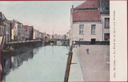 Mechelen Malines De Dijle La Dyle Et Le Quai Aux Avoines Haverwerf Chromatografie Ingekleurd (In Zeer Goede Staat) - Malines