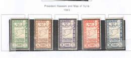 Siria Po 1943 Pres.Hassani E Map.  Scott.288/292 See Scan On Scott.Page - Syria