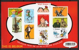 BELGIE 2012 BLOCK TINTIN ND // IMPERFORMATED MNH** NEUF P/D CHARNIERE POSTALE NEUF - Blocs 1962-....
